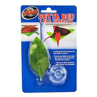 """Zoo Med Aquatic Betta Bed Leaf Hängmatta - Standard - 1 Count - (3,5"""" Lång)"""