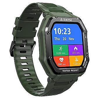 Sport Mode bluetooth polsband mannen vrouwen horloges hartslagmeter horloges (groen)