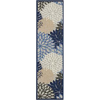 2' x 6' sininen suuri kukka sisäinen ulkojuoksijamatto