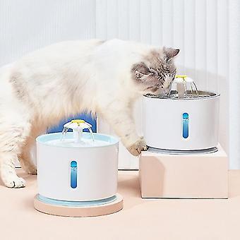 Usb-driven automatisk dricksvattenfontänautomat (2.4l)(Blå)