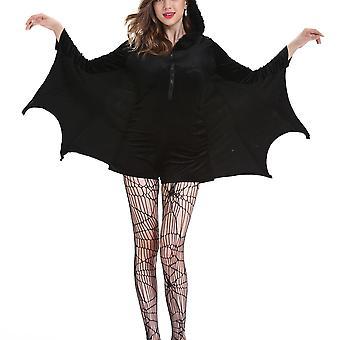Женщины Вампир Летучая мышь Косплей Костюм Хэллоуин Вечеринка Причудливые платья Наряды