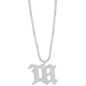 Dheygere Gothic M Letter Necklace Wild Simple Personality Trend Small Pendant Hip Hop Decoration Men And Women Ins Tide