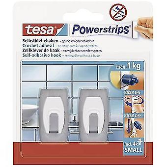 tesa 57999-00-02 Tesa Powerstrips ® Kroker Liten Konvekse Rustfritt stål (børstet) Innhold: 2 stk(er)