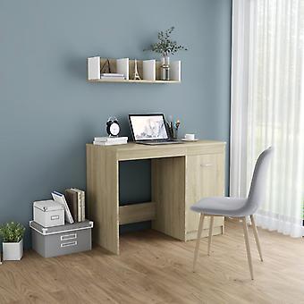 Chunhelife Desk Sonoma Oak 100x50x76 Cm Aggloméré