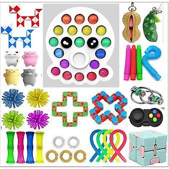 Sensory Decompression Toy Set Puzzle Diy Combination Toys -21