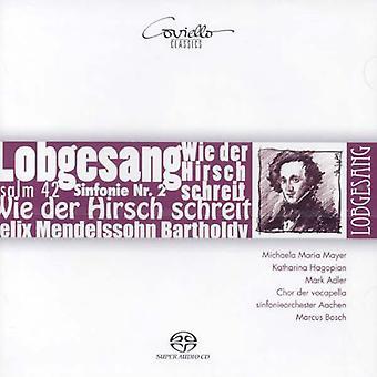 Mendelssohn / Mayer / Hagopian / Adler / Bosch - Sym No. 2 / Psalm 42 [CD] USA import