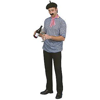 Kostium francuski zestaw sprężyn kapelusz koszula tkaniny broda
