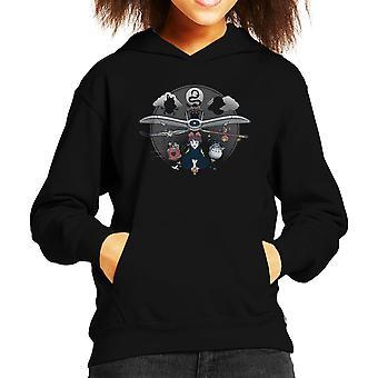 Flight Of The Imagination Studio Ghibli Kid's Hooded Sweatshirt