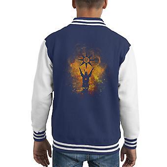 Praise The Sun Art Solaire of Astora Dark Souls Kid's Varsity Jacket