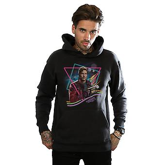 Marvel Men's Guardians Of The Galaxy Neon Star Lord Hoodie