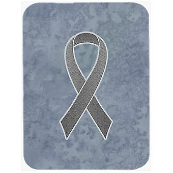 Grey Ribbon for Brain Cancer Awareness Glass Cutting Board Large Size