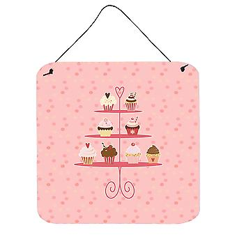 Carolines Treasures  BB7274DS66 Cupcakes 3 Tier Pink Wall or Door Hanging Prints