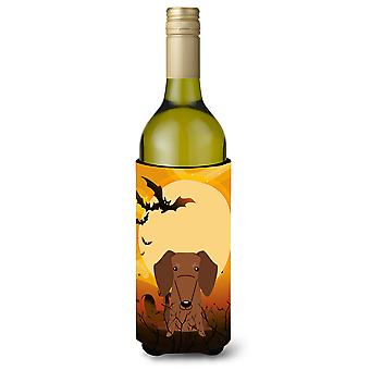 Halloween Dachshund Red Brown Wine Bottle Beverge Insulator Hugger