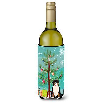 Merry Christmas Tree snyte Skrekkelig vinflaske Beverge isolator Hugger