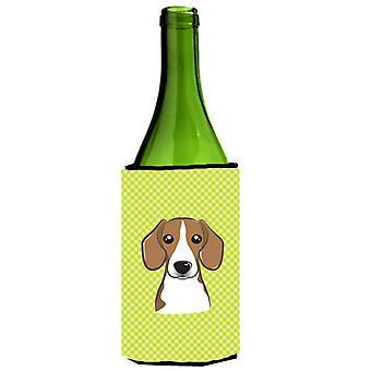 Dambord Lime groene Beagle wijnfles drank isolator Hugger
