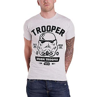 Official Mens Star Wars T Shirt Stormtrooper Imperial Army Mens New Heather Grey