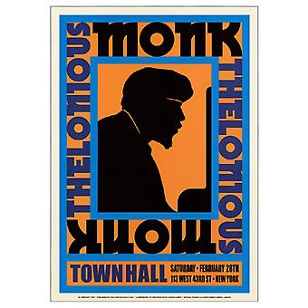 Thelonious Monk Town Hall Nyc 1959 Poster Print (17 x 24)