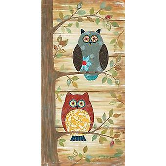 Two Wise Owls Poster Print by Annie LaPoint (9 x 18)