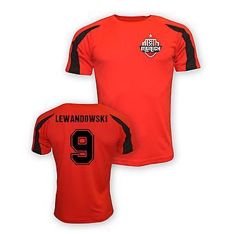 Robert Lewandowski Bayern München sport Training Jersey (röd) - barn