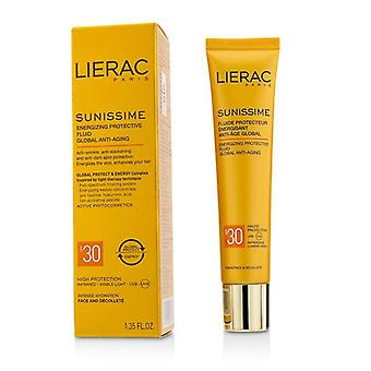 Lierac Sunissime Global Anti-aging Energizing Protective Fluid Spf30  For Face & Decollete - 40ml/1.35oz