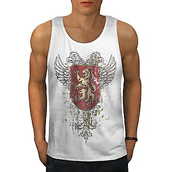 Medieval War Flag Men WhiteTank Top | Wellcoda
