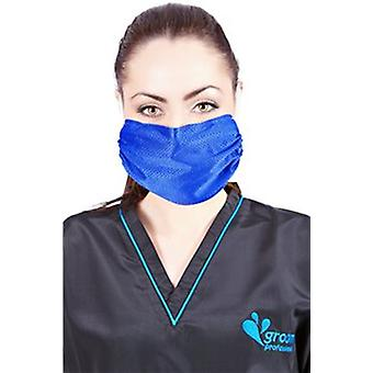 Breathe Healthy Washable Antimicrobial - Honeycomb Blue Mask