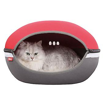 Ibiyaya Little Arena Fun Space Saving Cozy Pet Bed with Ventilation, Red