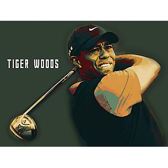 Tiger Woods Golf Poster Kunstdruck/Poster (24 x 18)