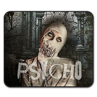 Psycho Death Scary  Non-Slip Mouse Mat Pad 24cm x 20cm | Wellcoda