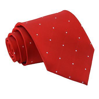 Dunkel rot Pin Dot klassische Krawatte