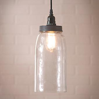 Irvin's Country Tinware Large Mason Jar Pendant