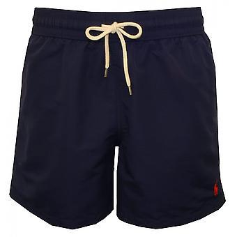 Polo Ralph Lauren Traveller Swim Shorts, Newport Navy W/red