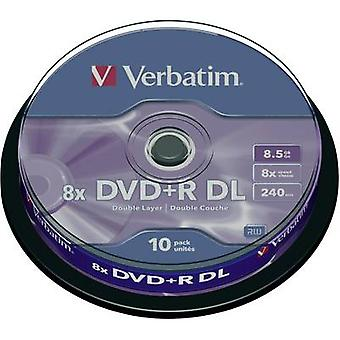 Ordrett 43666 tom DVD + R DL 8,5 GB 10 PC (er) spindel