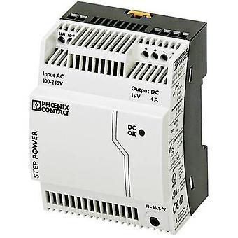 Phoenix Contact STEP-PS/1AC/15DC/4 Rail mounted PSU (DIN) 15 V DC 4 A 60 W 1 x