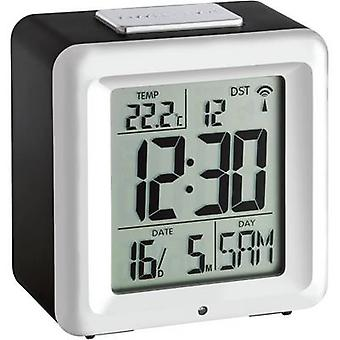 TFA Dostmann 60.2503 Radio Alarm clock Black-silver Alarm times 1