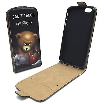 Handyhülle Tasche für Handy Apple iPhone 6 / 6s Bär mit Kettensäge
