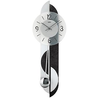 Wall clock quartz with pendulum back slate application aluminum quartz wall clock