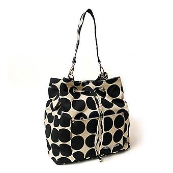 Chic 'O' bello Montreaux Change Bag Back Pack Black Dots
