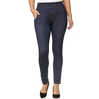 Ladies PlusSize Pants Stretch Trousers Oversize Leggings BigSize Treggings Jeans