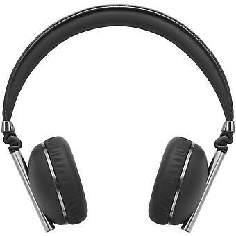 Caeden Linea N ° 1 on-ear hoofdtelefoon voor iOS en Android-convex Carbon & Gunmetal zwart