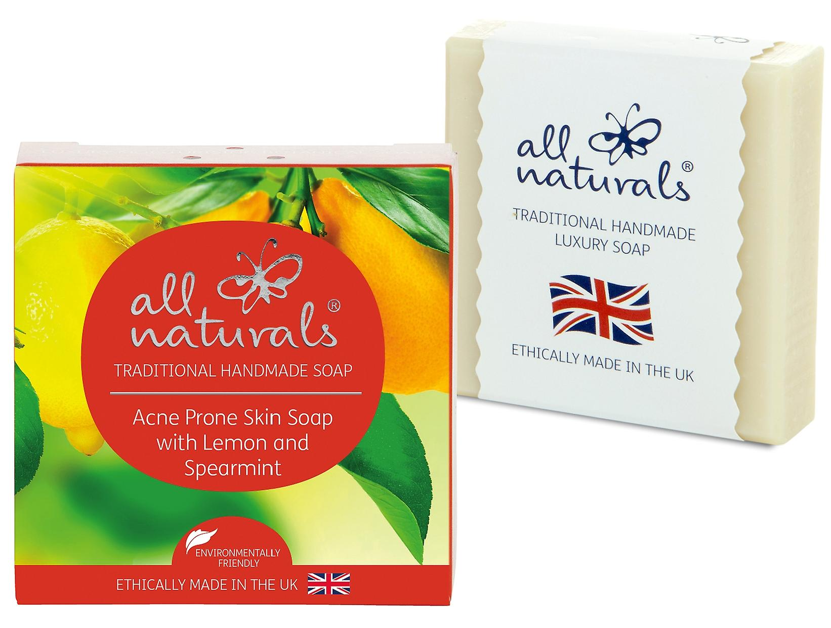All Naturals Organic Acne Soap Lemon Spearmint 100g