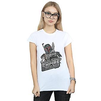 Star Wars Women's Boba Fett Skeleton T-Shirt