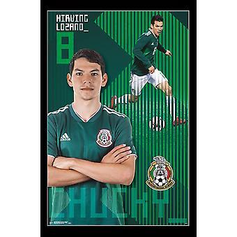 Equipo nacional del fútbol de México - Chucky Lozano Poster Print