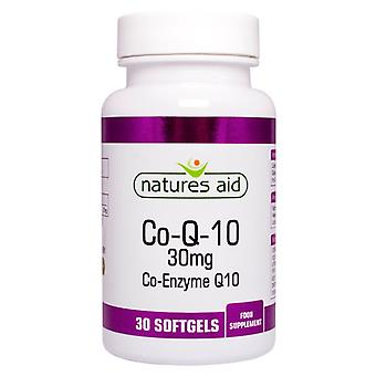 Natures Aid CO-Q-10 30mg (co-enzym Q10), 30 capsules