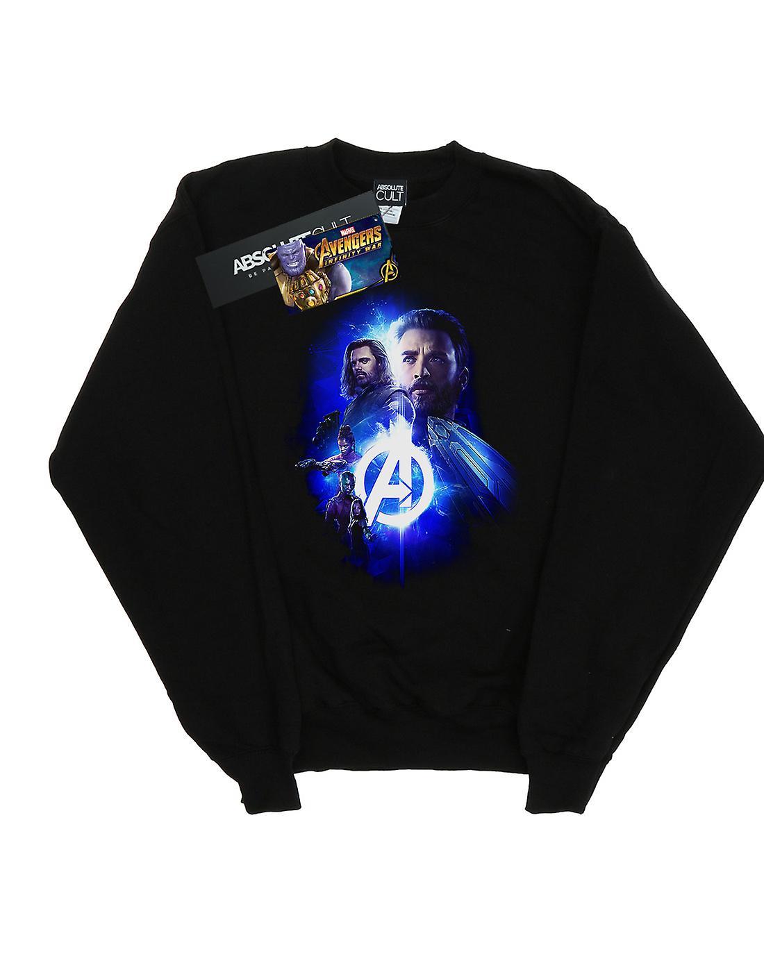 Marvel Women's Avengers Infinity War Cap Bucky Team Up Sweatshirt
