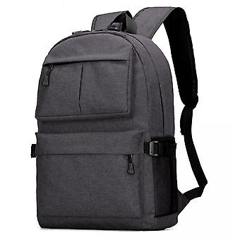 Durable large backpack with USB port-Black