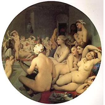 Het Turkse bad Jean Auguste Dominique Ingres, 50x50cm