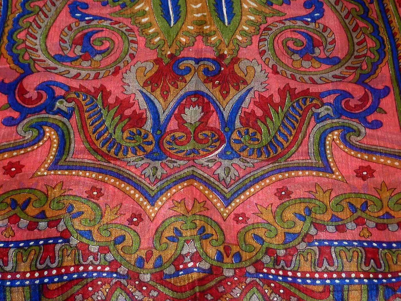 Mulberry Silk Traditional Long Scarf Kullu Red by Pashmina & Silk