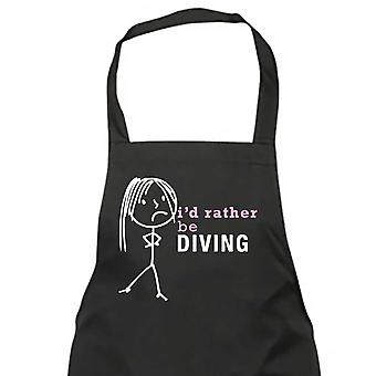 Ladies I'd Rather Be Diving Apron