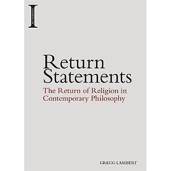 Zurück Aussagen - die Rückkehr der Religion in der zeitgenössischen Philosophie